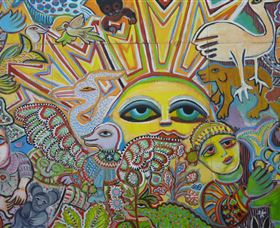 The Painting of Life by Mirka Mora - Tweed Heads Accommodation