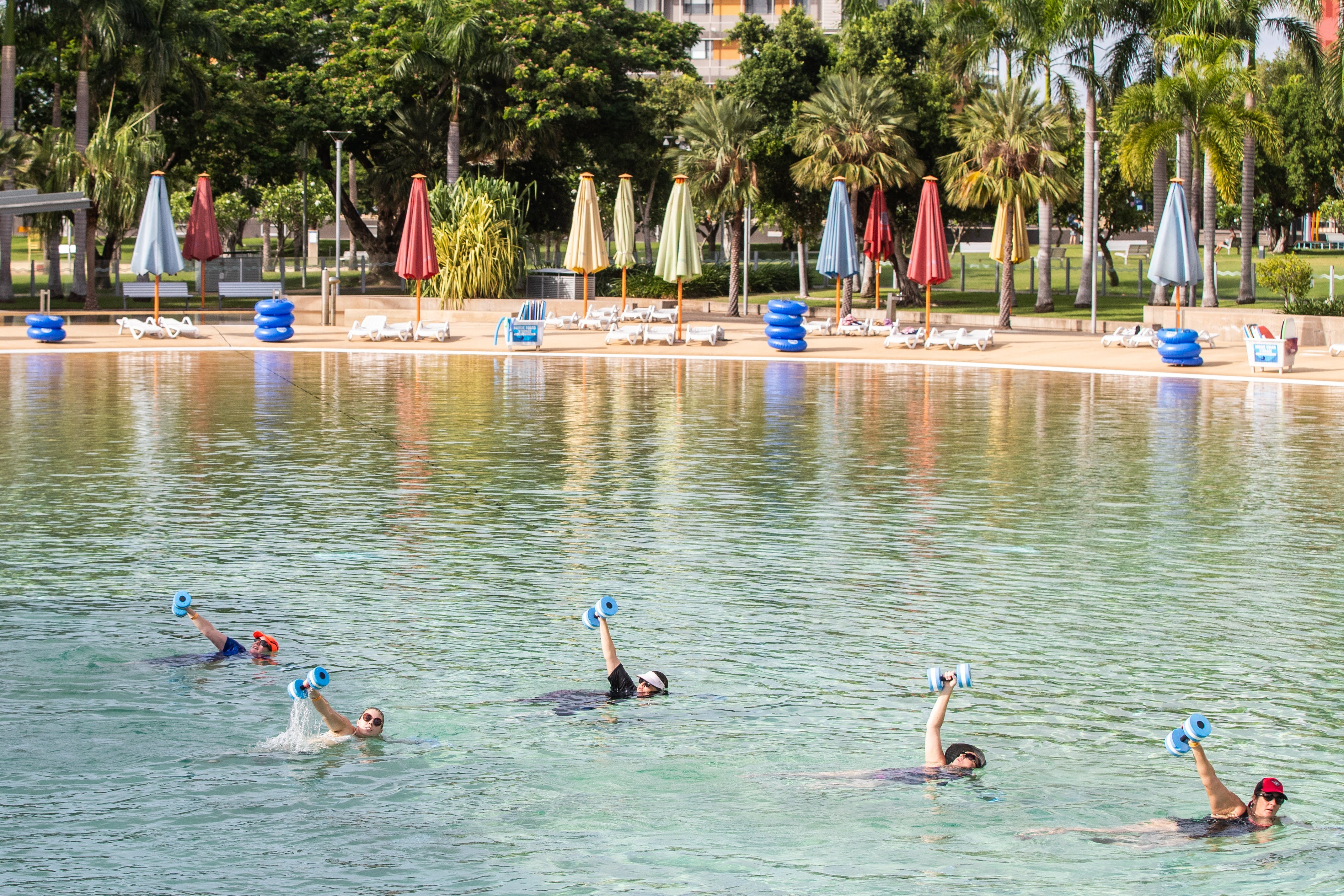 Aqua fitness in the Wave Lagoon - Tweed Heads Accommodation