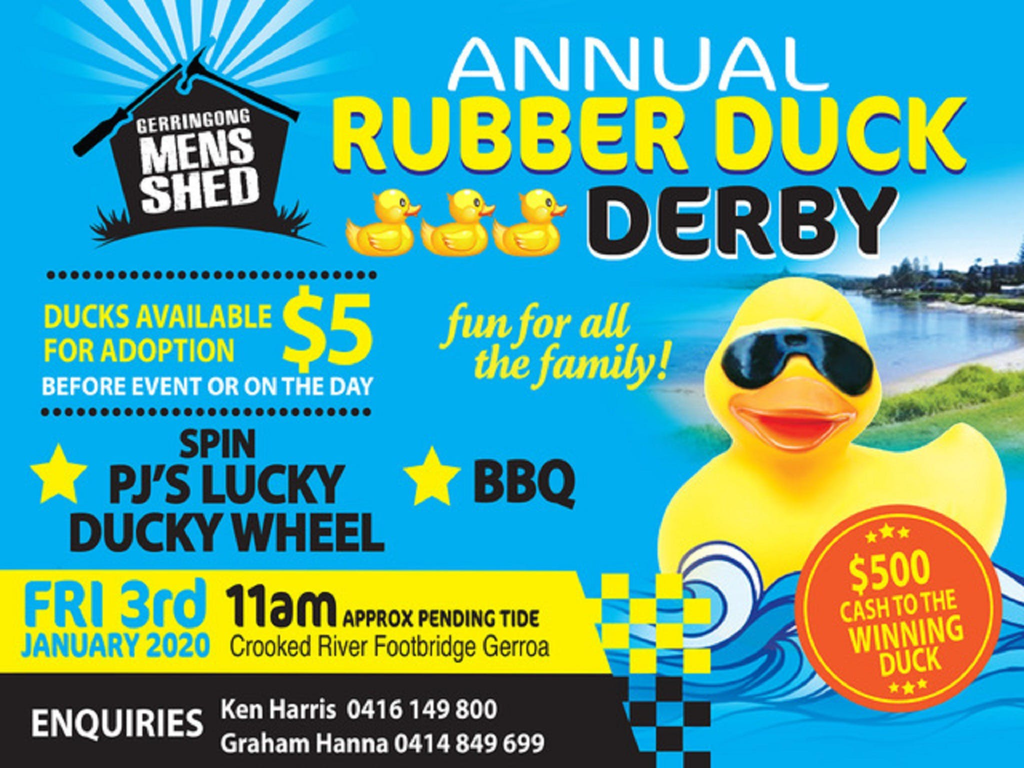 Gerringong Mens Shed Annual Duck Derby - Tweed Heads Accommodation