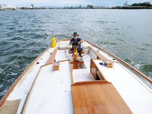 Cruising Yacht in Marina - Tweed Heads Accommodation